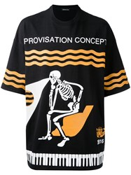 Undercover Skeleton Print T Shirt Black
