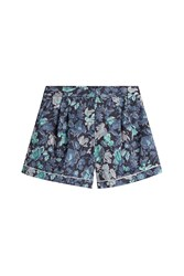 Burberry London Printed Cotton Shorts Multicolor