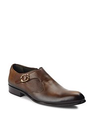 Jo Ghost Mixed Leather Loafers Brown