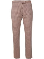 Paul Smith Ps Check Pattern Trousers Orange