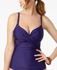 Island Escape Underwire Push Up Tankini Top Created For Macy's Swimsuit Navy