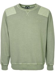 The Upside Shoulder Patch Sweatshirt Green