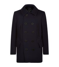 Tom Ford Double Breasted Pea Coat Navy