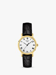 Tissot T1092103603300 'S Everytime Leather Strap Watch Black White