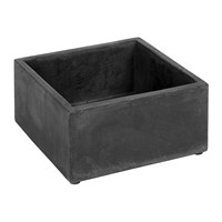 Serax Cement Pot With Holes Black Square