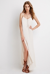 Forever 21 High Slit Maxi Dress Taupe