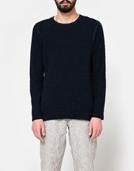 Wings Horns Loop Knit Long Sleeve Navy