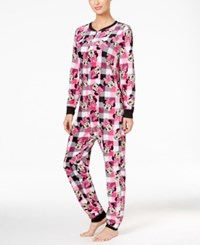 Briefly Stated Minnie Mouse Plaid Jumpsuit