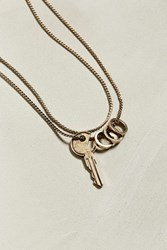 Urban Outfitters Uo Golden Key Necklace
