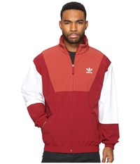 Adidas Oridecon Blocked Wind Jacket Collegiate Burgundy Mystery Red Men's Coat
