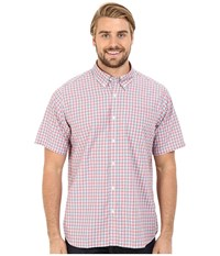 Mountain Khakis Spalding Gingham Short Sleeve Shirt Summer Red Men's Clothing
