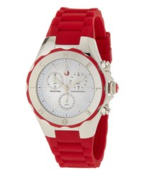 Michele Tahitian Jelly Bean Large Watch Red