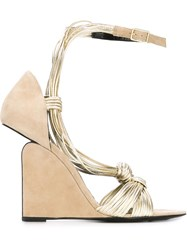 Pierre Hardy Wedge Sandals Nude And Neutrals