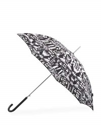 Shedrain Auto Open Stick Printed Umbrella Black White