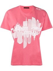 Mr And Mrs Italy Landmark Print T Shirt Pink