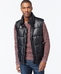 Sean John Quilted Puffer Vest Black