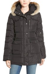 Women's Pajar 'Serena' Genuine Coyote Fur Trim Down Parka Jet Black