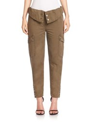 Cinq A Sept Noach Cotton Fold Over Cargo Pants Olive