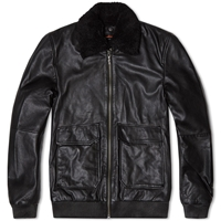 Nudie Jeans Nudie Tjalle Leather Jacket Black