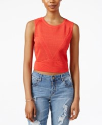 Rachel Rachel Roy Sleeveless Knit Crop Top Campari