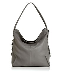 Botkier Soho Leather Hobo Slate Gunmetal