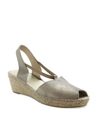 Andre Assous Dainty Slingback Wedge Sandals Pewter