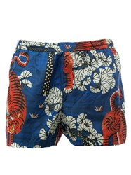 Gucci Bengal Print Swim Shorts Blue
