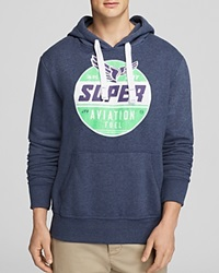 Superdry Aviation Reworked Classic Hoodie Navy