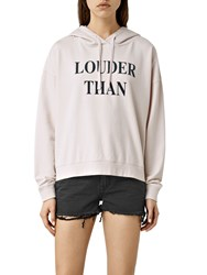 Allsaints Louder Lo Hoodie Oyster White