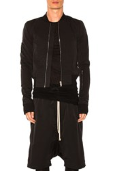 Rick Owens Glitter Flight Bomber Jacket Black