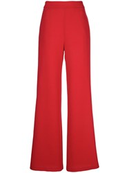 Brandon Maxwell Side Zip Fastening Trousers Red