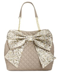Betsey Johnson Bow Tote Stone