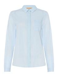 Hugo Boss Egyp Long Sleeve Shirt With Pocket Blue