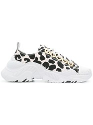 N 21 No21 Leopard Print Sneakers Nude And Neutrals