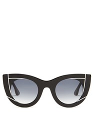 Thierry Lasry Wavvvy Cat Eye Acetate Sunglasses Black