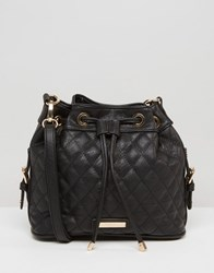 Dune Quilted Cross Body Bag Black