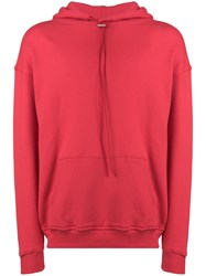 Represent Drawstring Neck Hoodie Red