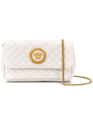 Versace Quilted Medusa Crossbody Bag White
