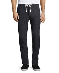James Perse Carbon Stretch Knit Cargo Pants Charcoal