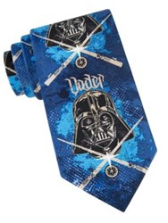 Star Wars Darth Vader Stencil Tie Blue