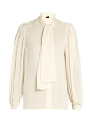 Joseph Bill Silk Georgette Blouse Ivory