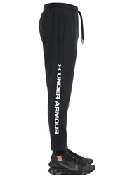 Under Armour Rival Sportstyle Logo Cotton Joggers Black