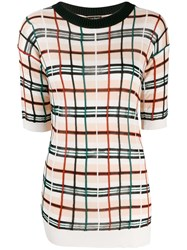 Jean Paul Gaultier Vintage Checked Knitted Top Neutrals