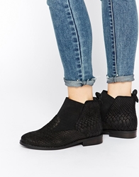 Asos At Home Leather Chelsea Boots Black