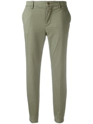 Closed Classic Cropped Trousers Green