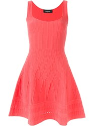 Dsquared2 Flared Sleeveless Dress Pink And Purple