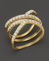 Bloomingdale's Diamond Crossover Ring In 14K Yellow Gold .85 Ct. T.W.