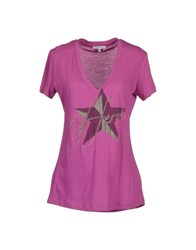 Gianfranco Ferre Gf Ferre' Topwear Short Sleeve T Shirts Women Purple