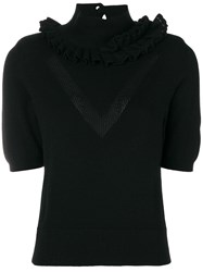 Barrie Cashmere Turtleneck Sweater Black