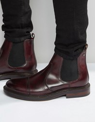 Base London Edison Leather Chelsea Boots Red